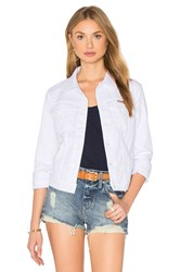 Hudson Jeans Signature Denim Jacket White 2