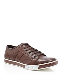 Kenneth Cole Brand Wagon Leather Sneakers Brown