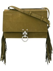 Andrea Incontri Fringed Crossbody Bag Green
