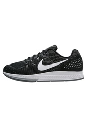 Nike Performance Air Zoom Structure 19 Stabilty Running Shoes Black White Dark Grey Cool Grey