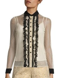 Red Valentino Ruffled Lace Blouse Soya