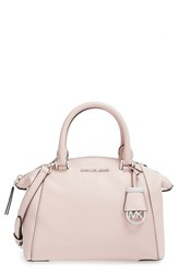 Michael Michael Kors 'Small Riley' Satchel Pink Ballet Silver