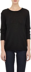 Barneys New York Cashmere Surplice Tie Back Sweater Black