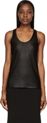 Givenchy Black Braided Jersey Tank Top