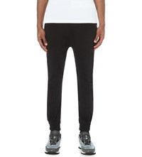 Blood Brother Tapered Cotton Jersey Jogging Bottoms Black