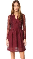 The Kooples Multi Lace Dress Red