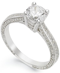 B. Brilliant Sterling Silver Cubic Zirconia Engagement Ring 1 1 10 Ct. T.W.