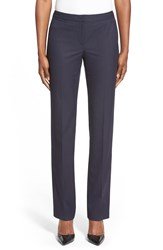 Halogen 'Taylor' Stretch Suit Pants Regular And Petite Navy Micro Blend Pattern