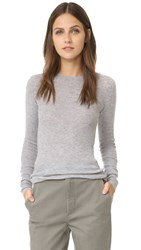 Vince Long Sleeve Cashmere Sweater H Steel