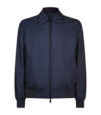 Brioni Reversible Bomber Jacket Male Navy