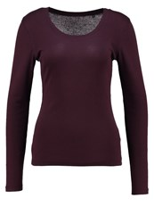 Opus Sorana Long Sleeved Top Dark Port Bordeaux