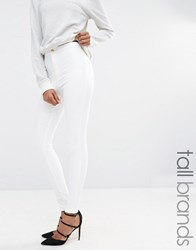 Missguided Tall Vice High Waisted Tube Jean White