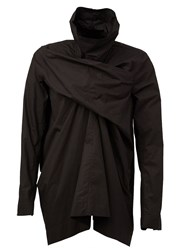 Rick Owens Draped Funnel Neck Top Black