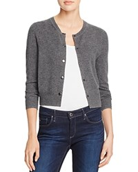 Aqua Snap Front Cashmere Cardigan Heather Grey