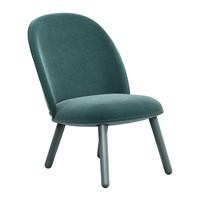 Normann Copenhagen Ace Lounge Chair Velour Lake Blue