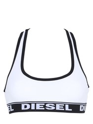Diesel Cotton Jersey Sports Bra