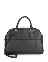 Cole Haan Tali Leather Double Zip Satchel Black