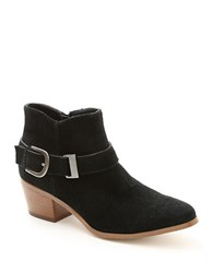 Kensie Colten Suede Ankle Boots Black