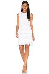 Kate Spade Fringe Sweater Dress White