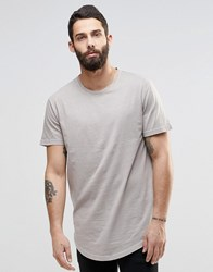Only And Sons Longline T Shirt With Wide Neck Crockery Stone