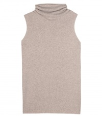 The Row Leona Wool And Cashmere Blend Knit Top Beige
