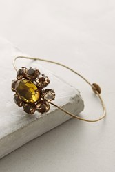 Anthropologie Meadow Crystal Cuff Yellow