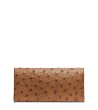 Michael Kors Ostrich Pocket Wallet Luggage