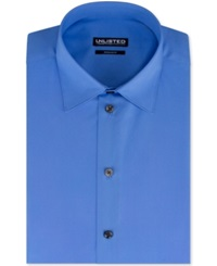 Unlisted By Kenneth Cole Solid Dress Shirt Bright Blue