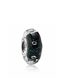 Pandora Design Pandora Charm Murano Glass Sterling Silver And Cubic Zirconia Midnight Effervescence Moments Collection Midnight Blue Silver