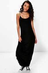 Boohoo Bella Low Back Maxi Dress Black