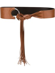 Orciani Fringe Belt Brown