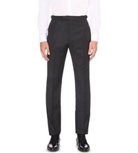Reiss Daley Slim Tapered Wool Trousers Charcoal