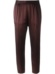 Forte Forte Satin Trousers Brown