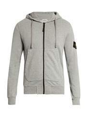 Stone Island Cotton Jersey Hooded Sweatshirt Light Grey