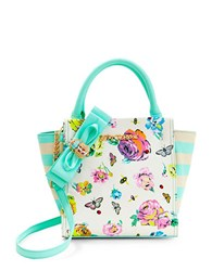 Betsey Johnson Bug A Boo Winged Satchel Floral
