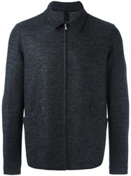 Harris Wharf London Zipped Boxy Jacket Blue