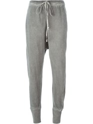 Lost And Found Rooms Drop Crotch Track Pants Grey