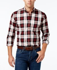 Club Room Men's Tartan Plaid Shirt Only At Macy's Winter Ivory