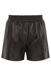 Acne Studios Salt Light Leather Shorts