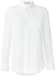 Saint Laurent Classic Collar Shirt White