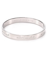 Kate Spade New York Bride Engraved Idiom Bangle Silver