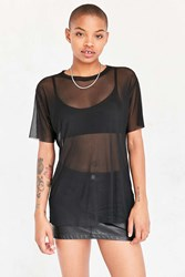 Silence And Noise Chrissy Mesh Tee Black