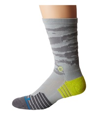Stance Drill Sergent Crew Grey Men's Crew Cut Socks Shoes Gray