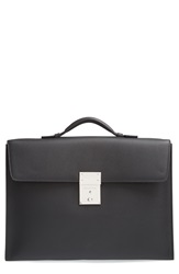 Ermenegildo Zegna 'Yum' Leather Briefcase Black