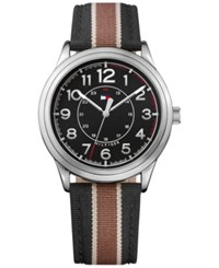 Tommy Hilfiger Men's Table Brown And Black Nylon Strap Watch 42Mm 1791330