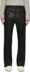 Paul Smith Black Metallic Flare Trousers