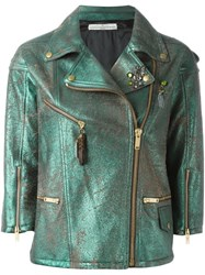Golden Goose Deluxe Brand 'Road' Biker Jacket Green