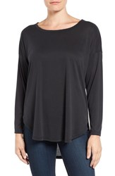 Bobeau Women's High Low Long Sleeve Tee