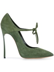 Casadei Lace Up Pumps Green