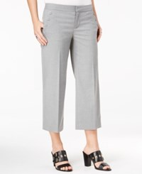Tommy Hilfiger Cropped Wide Leg Sailor Pants Gray